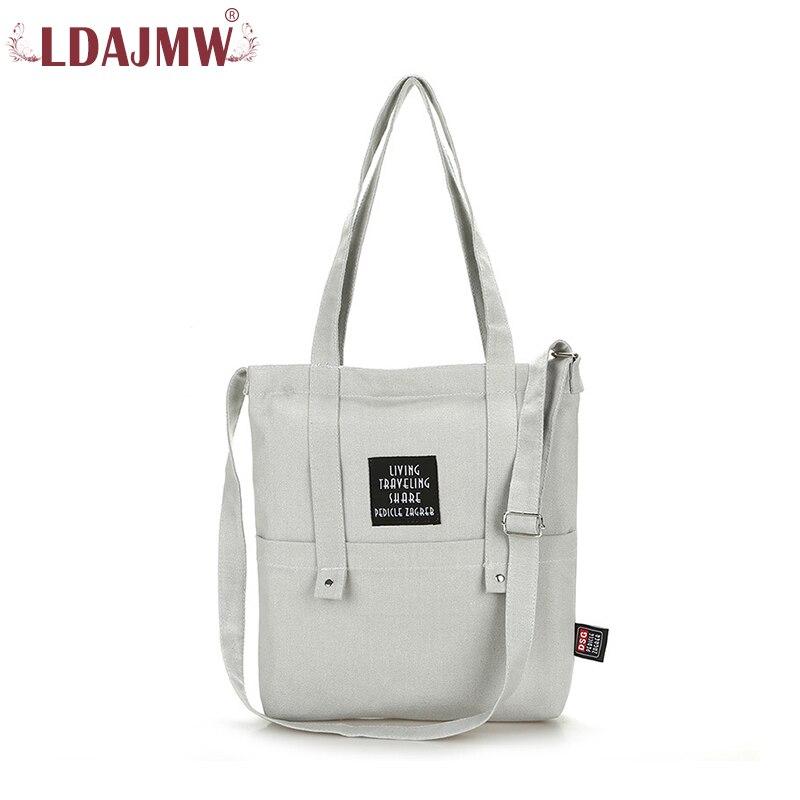 LDAJMW Canvas Bag Women's Shoulder Messenger Bag Women Casual Tote Handbag Large Capacity Shopping Bag