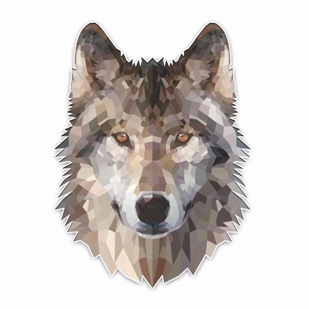 YJZT 12,2*16,5 см интересный прекрасный голова Волка мультфильм цветной ПВХ декоративная наклейка для автомобиля Графический C1-5451