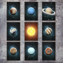Sun Planet Galaxy Earth Science Satellite Wall Art Canvas Painting Nordic Posters And Prints Wall Pictures For Living Room Decor