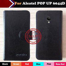 Hot!! In Stock Alcatel POP UP 6044D Case 6 Colors Ultra-thin Leather Exclusive For Phone Cover+Tracking
