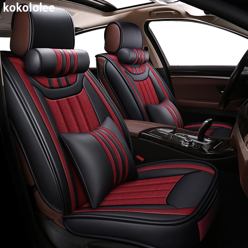 kokololee car seat cover for volkswagen touareg polo sedan vw lupo golf automobiles seat cover car styling
