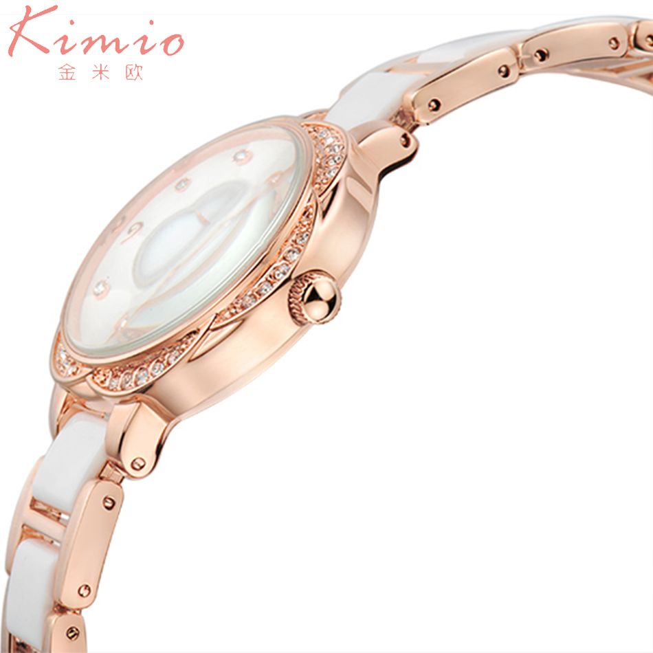 Women Watches Kimio Watch Top Brand Unique Chain Luxury Diamond Rose Gold Ladies Watch Charming Chain Style Clock reloj mujer kimio fashion quartz watches women top luxury brand japan movement full stainless steel rose gold watch for women reloj mujer