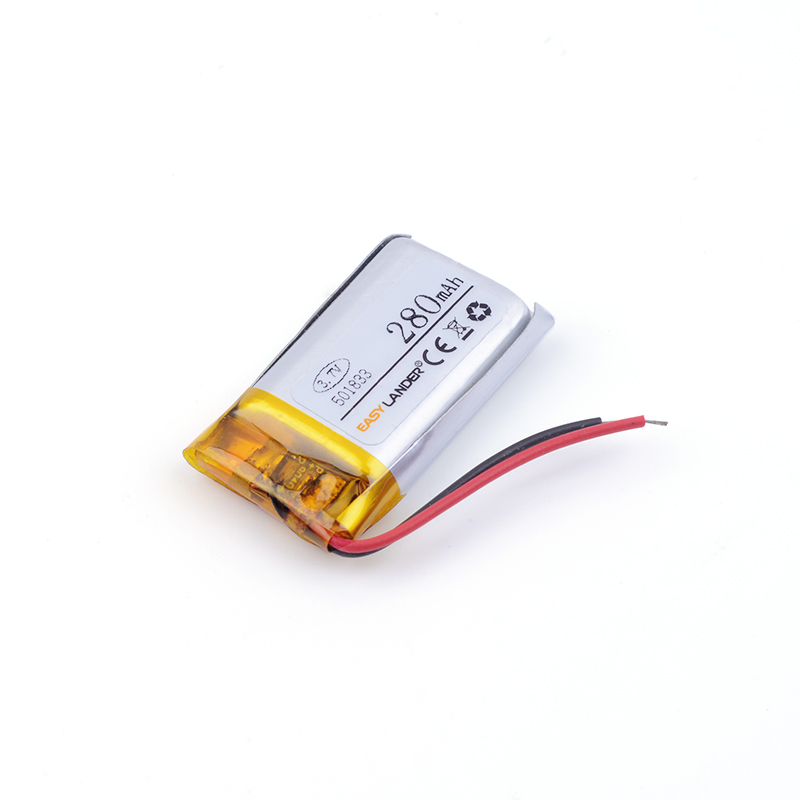 501833 280mAh 3.7v lithium Li ion polymer rechargeable battery For Bluetooth Headset Smart watch Sports bracelet mouse kxd042040pl 280mah lithium polymer battery
