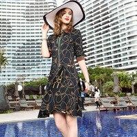Цветочное шелковое платье 2019 весна лето плюс размер Пляжная Повседневная богемная длинная рубашка платья для женщин 4xl 5xl 6xl халат винтажный