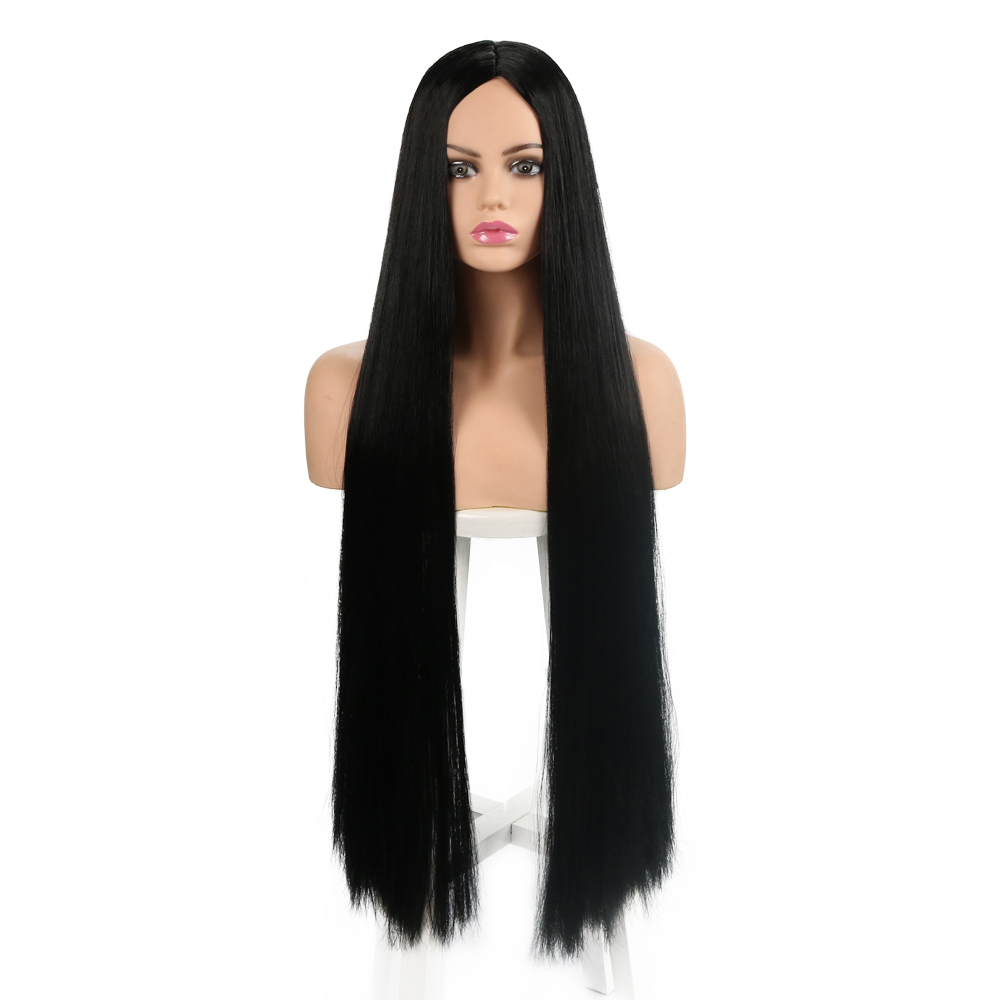 36 Quot Synthetic Straight Wigs For Women Purple Red Black