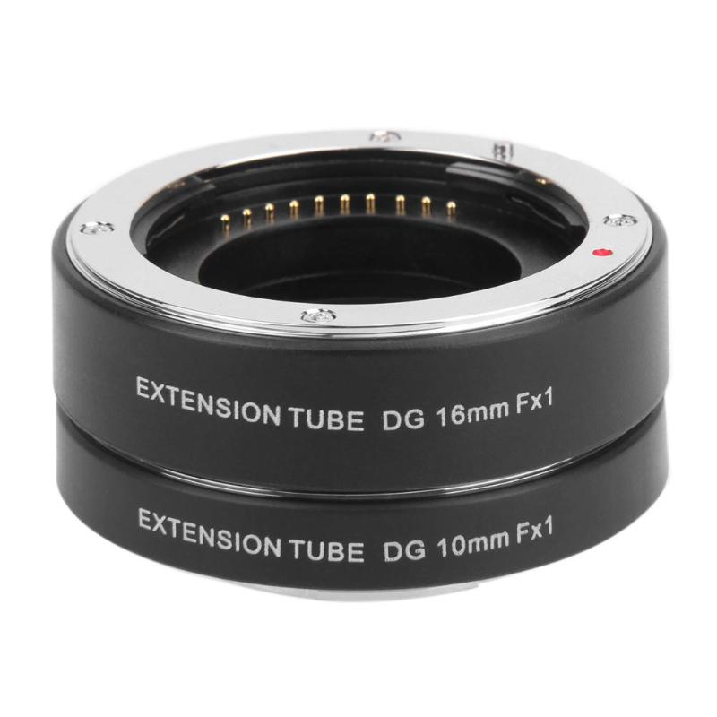 1Pcs Auto Focus AF Metal Macro Extension Tube Ring Lens Adapter Mount for FujiFilm Fuji X-ro1 X-E1 X-E2 X-M1 X-A1 High Quality jjc s f3 затвора применимо к fuji x m1 x e2 x a1 xq1 альтернативно rr 90