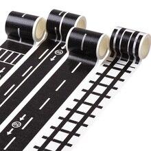 48 мм х 5 м железнодорожная дорожная лента дорожное движение трек-сцена васи лента наклейка клейкая маскирующая бумага этикетка дорога для детей игрушка автомобиль играть