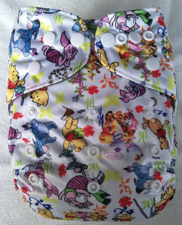 Naughtybaby Washable Pocket Diaper Covers Bamboo Inserts Cloth Diapers Newborn Reusable Baby Nappies Cloth Diapers 3