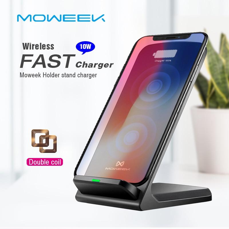 Handy-zubehör Moweek Qi Drahtlose Ladegerät Für Iphone Xs Max Xr X 8 Schnelle Halter Stehen Drahtlose Ladegerät Für Samsung S9 S8 Hinweis 8 Xiaomi Mix 2 S Farben Sind AuffäLlig