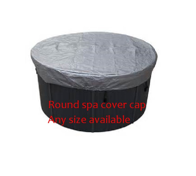 Round shape hot tub cover cap prevent snow, rain and dust,can customize spa, swim spa cover bag 2200mmx1900mm hot tub spa cover leather skin can do any other size