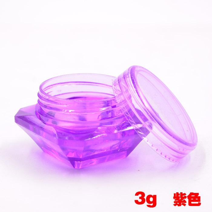 Купить с кэшбэком 5g 1000pcs/lot -Clear Diamond Shape Mask Bottles Acrylic Cream Jar Containers For Sample Packaging cosmetic container,#8colors