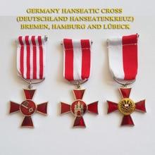 XDT0011 Ганзейский крест, набор медалей Deutschland Hanseatenkreuz, награжденный Bremen, Гамбургом и Lubeck Hanseatic WWI