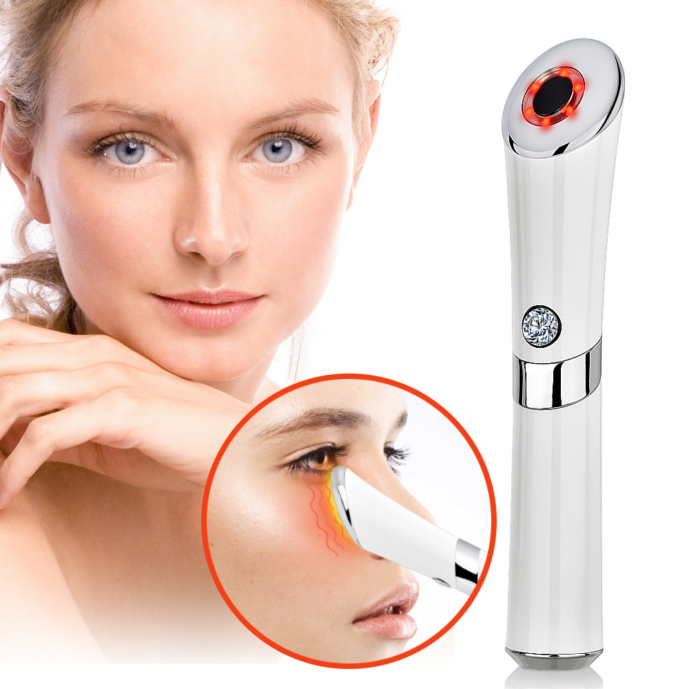 Electric Vibration Anion Eye Massager Blue & Red Light Laser Pen Anti Puffiness Anti Aging Wrinkle Eye Patch Eyes Skin Care ToolElectric Vibration Anion Eye Massager Blue & Red Light Laser Pen Anti Puffiness Anti Aging Wrinkle Eye Patch Eyes Skin Care Tool