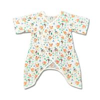New Summer Baby Clothing Newborn Ha Clothes Baby Romper Short Sleeve Jumpsuits Infant Product 100% Cotton Gauze Free Size Prints