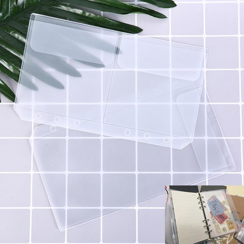 A6 Midori Standard In Pvc Tasca Borsa Del Viaggiatore Notebook Di Raccolta Trasparente Pocker Con I Titolari Di Carta Di Plastica Borse Multiuso