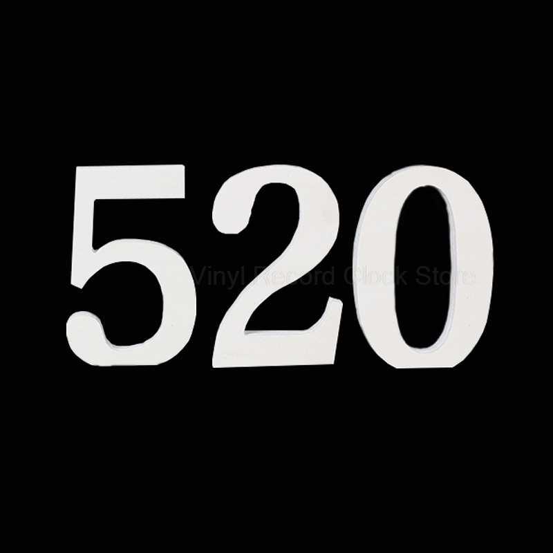 Цифровые цифры Деревянные Настенные стикеры s 3D Декоративные DIY деревянные цифры наклейки для свадебной вечеринки день рождения настенные наклейки домашний декор