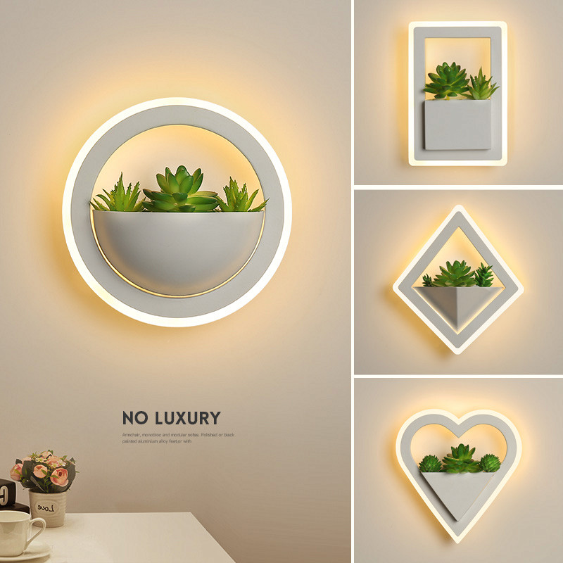 Modern led wall lamp living room bedroom bedside lamp corridor aisle balcony clothing makeup room decorative art plant wall lampModern led wall lamp living room bedroom bedside lamp corridor aisle balcony clothing makeup room decorative art plant wall lamp