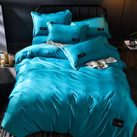 Bedding set King size Luxury Bed sheet Northern Pure Color Gray Pink Cotton 4pce set Quilt cover Blue Domestic comforter Queen