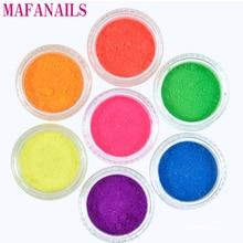 7 Colors Neon Pigment Powder Ombre Pigments Gradient Nail Art Glitter Decoration Dust (3g jar 7jars/set)