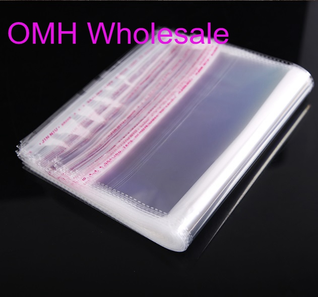 OMH Wholesale 50PCS 5x7 18x23cm Double Layer OPP Stickers Self Adhesive Transparent Plastic Bag  Jewelry Packaging Bags Gift Bag