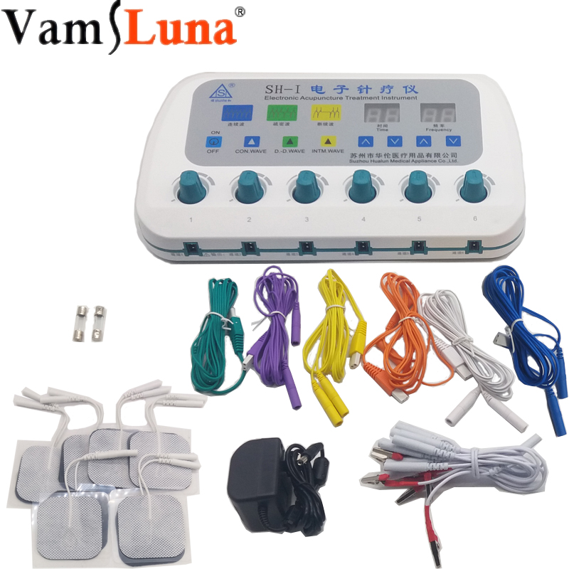 Electric Acupuncture Stimulator Machine SH I Massager Body Care With 6 Output Channel Electro Stimulation Treatment