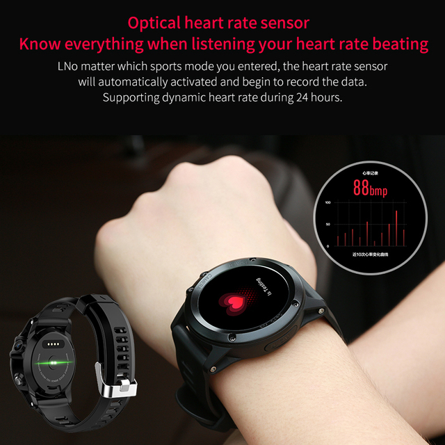 GPS Smart Watch Men Android 5.1 OS Smartwatch Altitude SIM 3G WIFI Heart Rate Monitor Camera IP68 Waterproof Sports Wristwatch