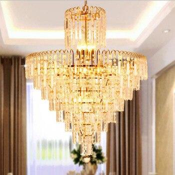 Candelabro moderno minimalista de lujo con estilo de sala de estar, candelabro de dormitorio, lámpara de iluminación led, lámpara de cristal dorado para el hogar