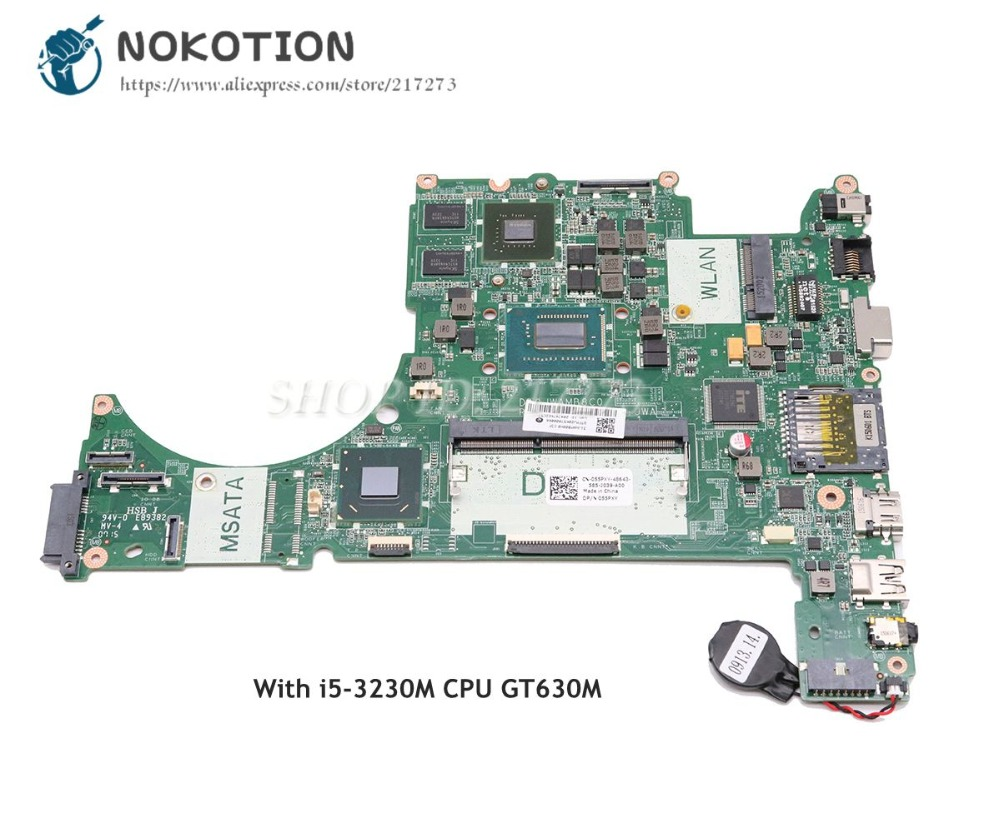 NOKOTION CN-055PXY 055PXY 55PXY DA0JWAMB8C0 For Dell Vostro 5560 Laptop Motherboard <font><b>i5</b></font>-<font><b>3230M</b></font> CPU GT630M GPU image
