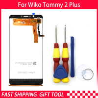 New original Touch Screen LCD Display LCD Screen For Wiko Tommy 2 plus Replacement Parts + Disassemble Tool+3M Adhesive
