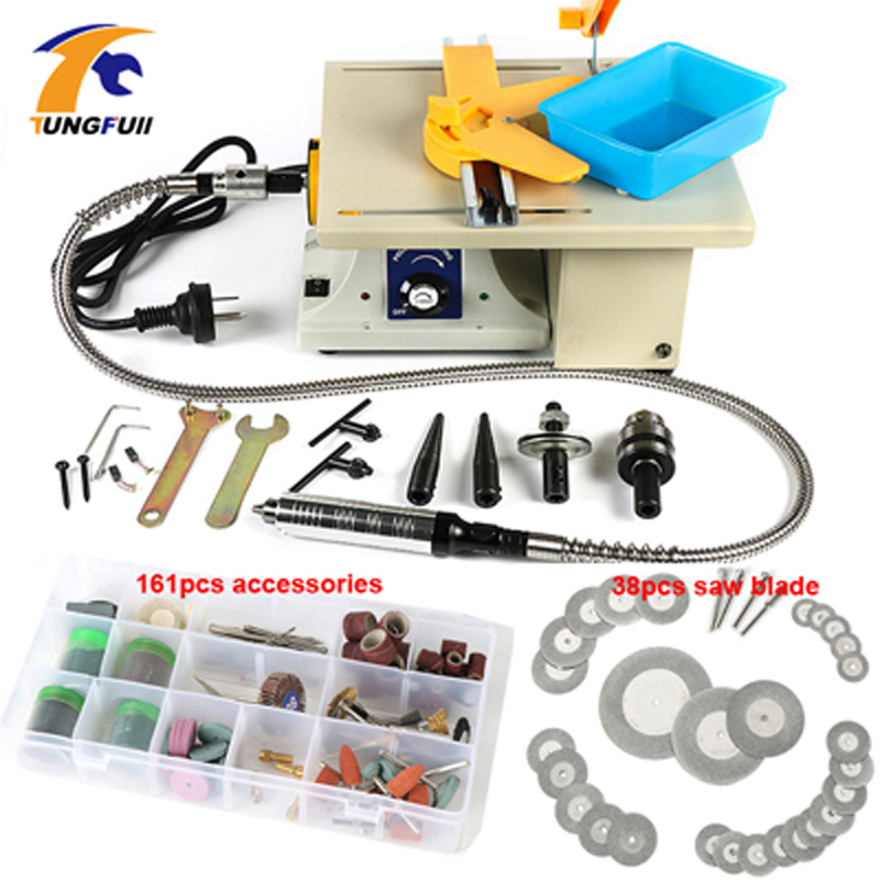 (Ship from RU)Fourth Generation! jade polishing tool,Jade Table grinding machine,Desktop mini grinder,Mini polishing machine.