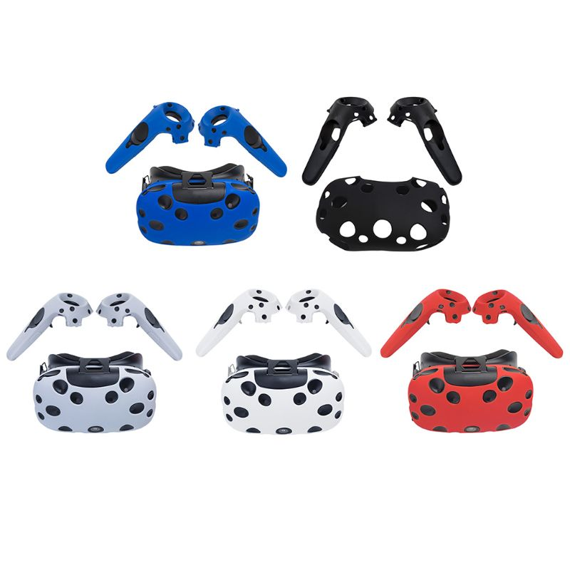 Silicone Controller Handle Case Protective Cover Anti Slip Shockproof Shell Game Accessories For HTC Vive Headset VR