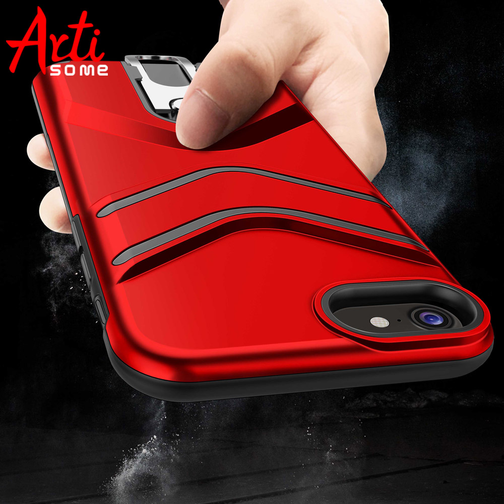 Artisome Armor Case For iPhone 7 8 Heavy Duty Protection Silicone Armor Kickstand Cases For iPhone 8 7 Case Silicone Cover Coque
