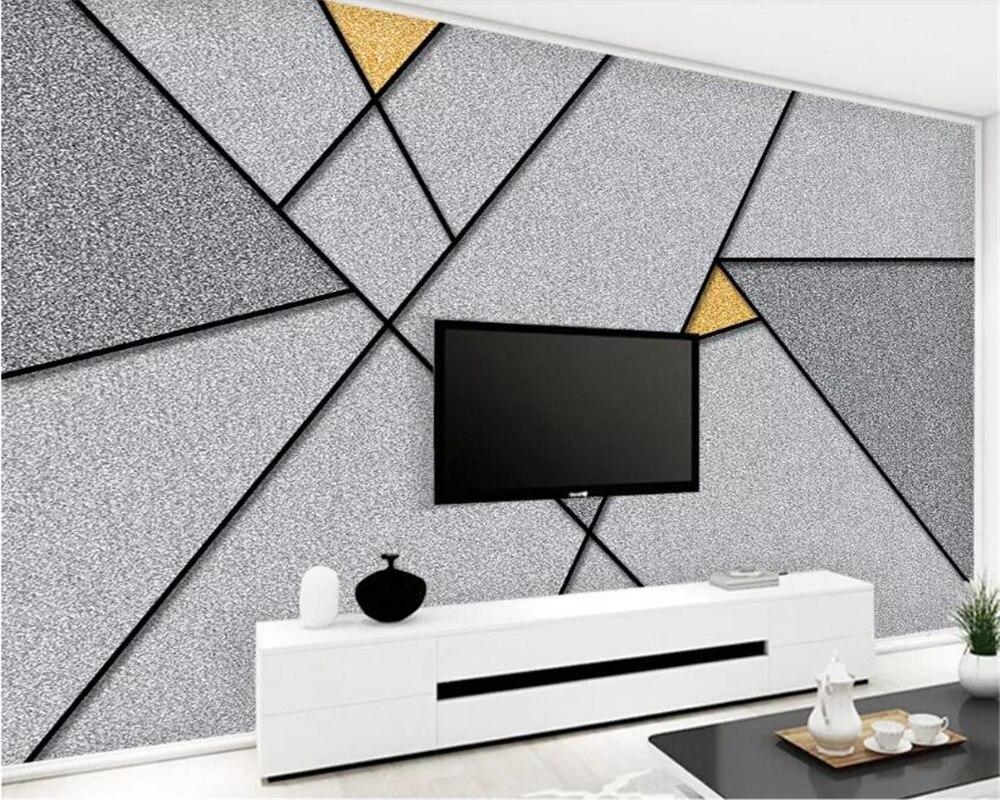 Wallpapers Home Improvement Confident Beibehang 3d Wallpaper Mural 3d Nordic Minimalist Marble Abstract Geometric Wallpaper Tv Background Ornament Papel De Parede 3d