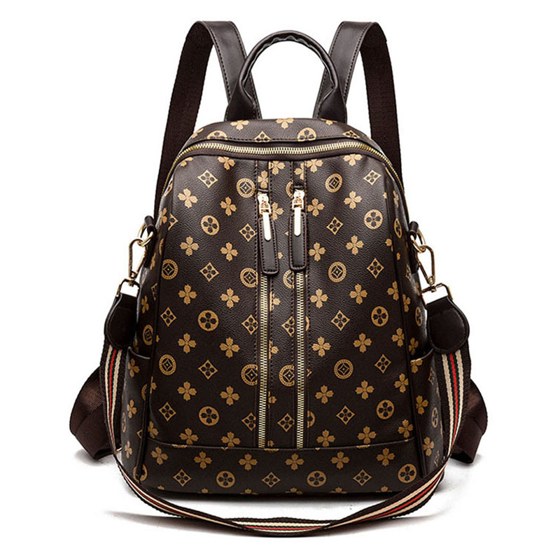 2019 New Mochila Escolar Double Zipper Decoration Women Backpack Retro Female Schoolbags Girl Travel Book Bags Ladies Shoulder