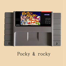 Pocky Rocky USA Version 16 bit Big Gray Game Card For 46 Pin Game Player