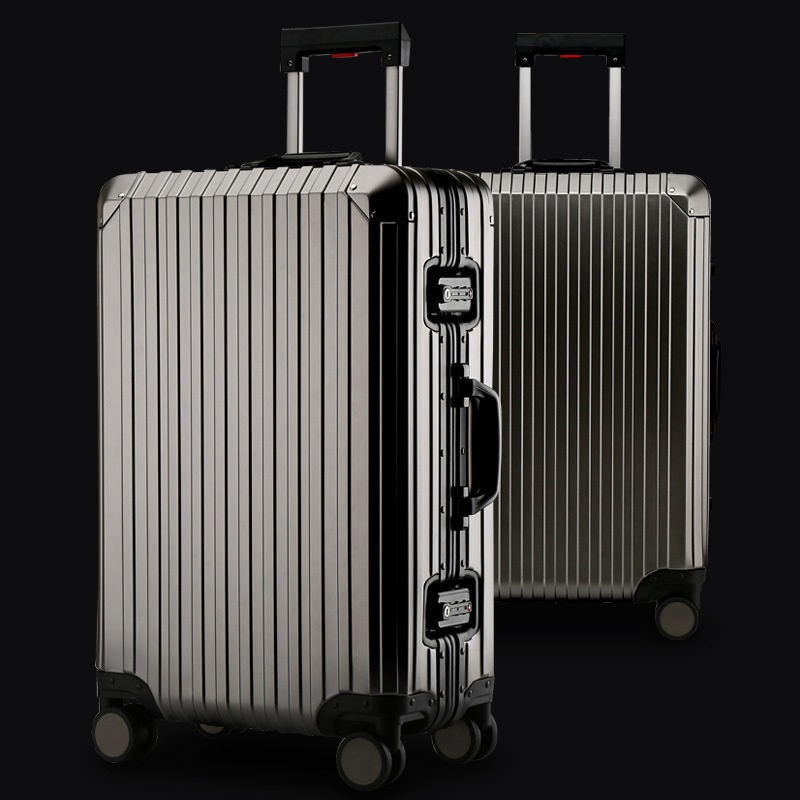 New 20 24 29 Inch Rolling Luggage 100% Aluminium Trolley Solid Travel Bag 20 Women Boarding Bag Carry On Suitcases TrunkNew 20 24 29 Inch Rolling Luggage 100% Aluminium Trolley Solid Travel Bag 20 Women Boarding Bag Carry On Suitcases Trunk