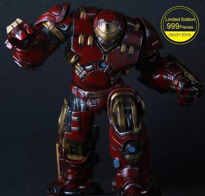 Crazy Toys Marvel Avengers Hulkbuster Limited Edition 25cm Ironman Super Hero PVC Action Figure Collectible Model Toys 26cm crazy toys 16th super hero wolverine pvc action figure collectible model toy christmas gift halloween gift