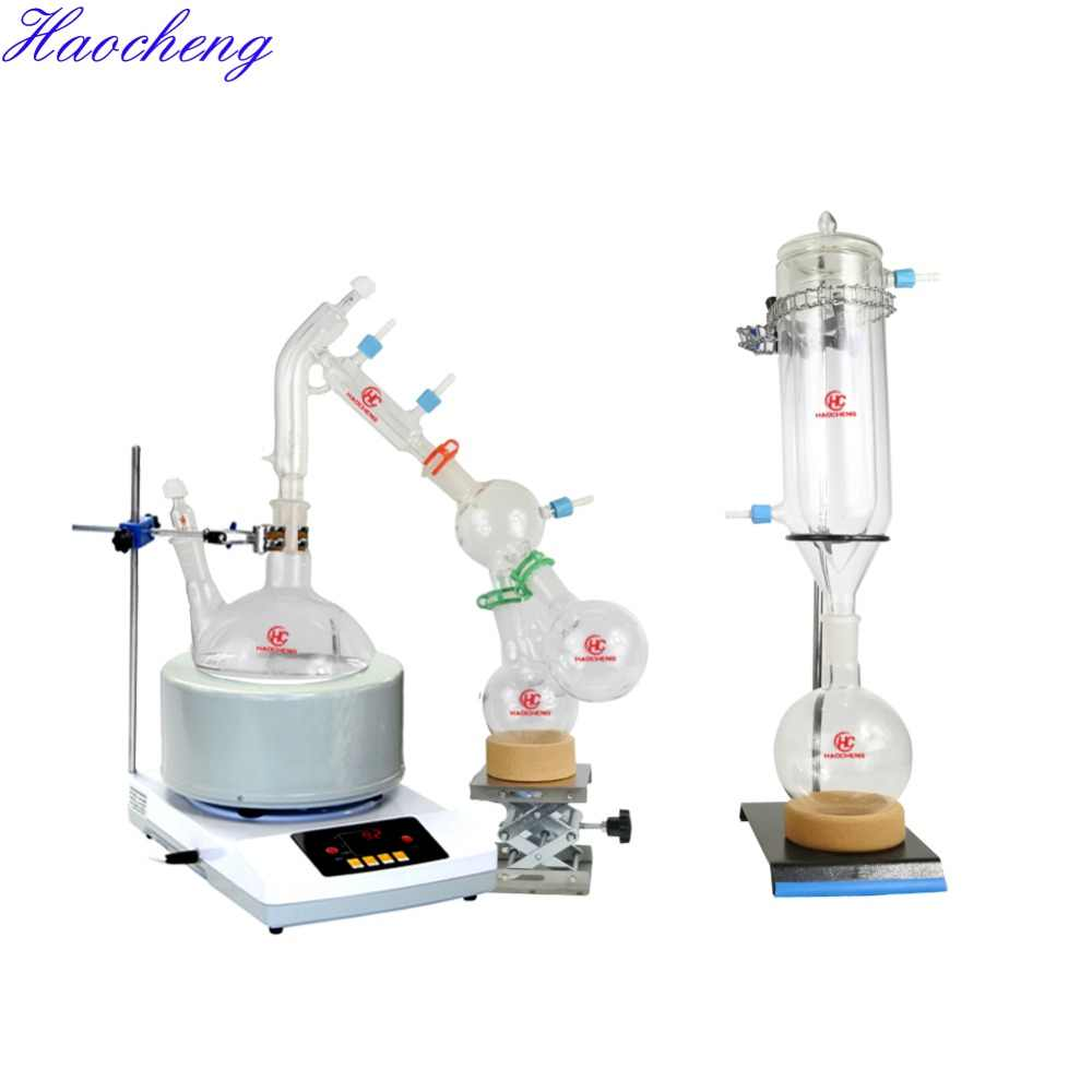 Free shipping, Stocks Available 2L 5L Chemical Experimental Short Path  Distillation with Stirring Heating Mantle