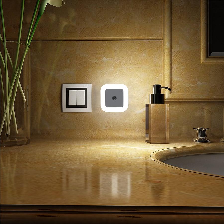 1Pcs Mini Auto Sensor Smart LED Luces nocturnas AC110V-240V Luz de - Luces nocturnas - foto 2