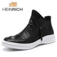 Генрих Новый Модные ботинки martin дизайнер формальный мужской сезонная обувь Высокое качество туфли на шнуровке из натуральной кожи Мужские