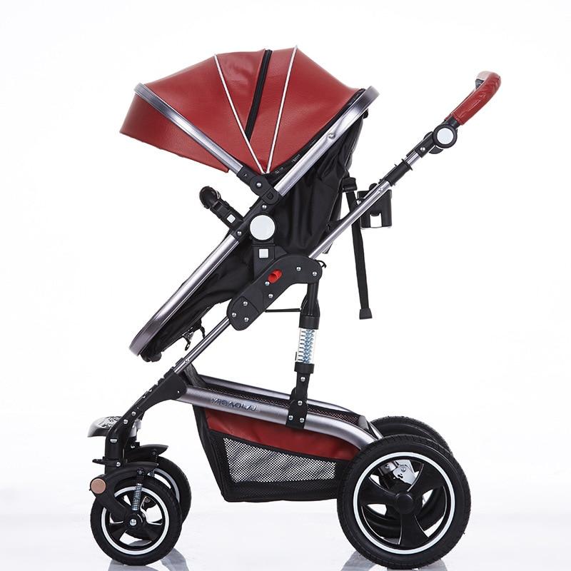 Wózek składany Bedora Wózek skórzany Wózek spacerowy o wysokich - Aktywność i sprzęt dla dzieci - Zdjęcie 5