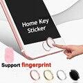 Venda quente Colorido Rodada Tecla Home Botão Do Teclado Adesivo Para iphone 6 6 s 5S se 5se suporte touch id de impressão digital reconhecimento