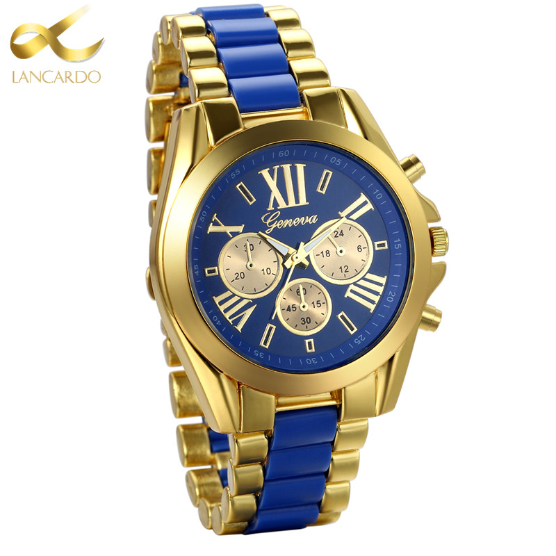 Lancardo Mens Watches Top Brand Luxury Gold Blue Steel Quartz Men's Watch 2017 Fashion Men Watches Male Clock Relogio Masculino new lancardo luxury brand men gold watches men quartz watch stainless steel men fashion casual wrist watch relogio masculino