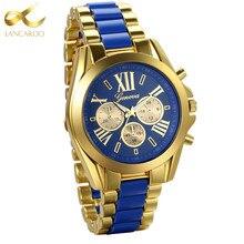 Lancardo Mens Watches Top Brand Luxury Gold Blue Steel Quartz Men's Watch 2017 Fashion Men Watches Male Clock Relogio Masculino цена в Москве и Питере