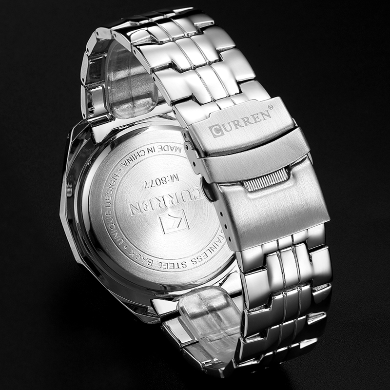 Fashion Curren Luxury Brand Man quartz full stainless steel Watch Casual Military Sport Men Dress Wristwatch Gentleman 2018 New 6