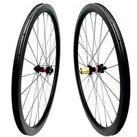 700c карбоновые дорожные дисковые колеса 38x25 мм бескамерные D411SB/D412SB 100x15 (12) 142x12 через осевой столб 1420 спицы дорога велосипедные колеса