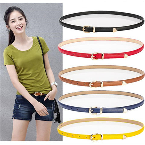 Long Buckle Double Patent Leather Thin Belt Small Strap Women's Decoration Strap Female