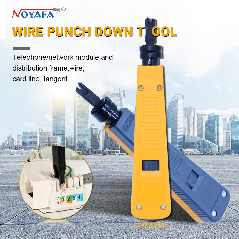 100% original noyafa NF-110 Yellow Krone Lsa-plus Telecom Phone Wire Cable RJ11 RJ45 Punch Down Network Tool Kit Professional