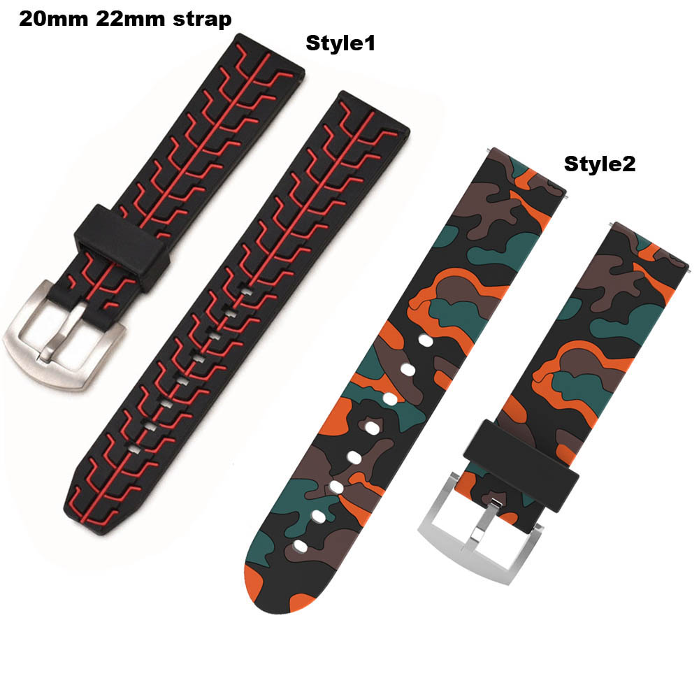 Amazfit Bracelet Silicone Watch Strap 20/22mm for Xiaomi Huami Amazfit Bip Bit Pace Stratos 2 Correa Band Samsung Gear S2 S3 S4
