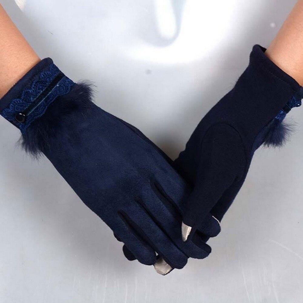Womens leather smartphone gloves - Smartphone Screen Gloves Fashion Women 2017 Winter Warm Cotton Gloves Touchscreen Gloves Mittens Winter Gloves